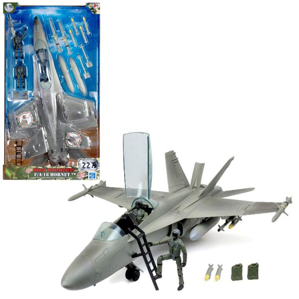 World Peacekeepers F/A 18 Hornet Military Army Jet Airplane Toy -- 1:18 Scale